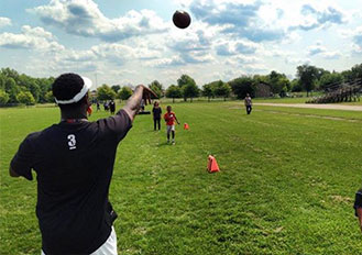 Had a blast at our Football Clinic with former Chicago Bear Ray McElroy !