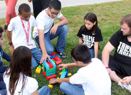 Youth build character through 3T Team Building Challenge!