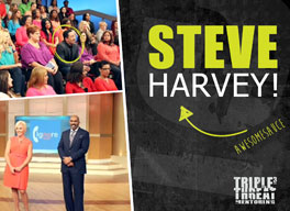 3T was mentioned on the Steve Harvey show!