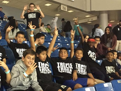 Triple Threat Santa Ana students front and center at UC Irvine season opener